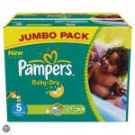 161 Couches Pampers Baby Dry taille 5