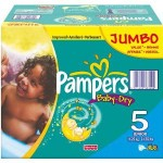 184 Couches Pampers Baby Dry taille 5