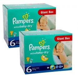 48 Couches Pampers Active Baby Dry taille 6