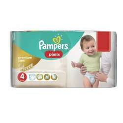 66 Couches Pampers Premium Care Pants taille 4