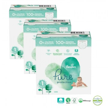 200 Couches Pampers Pure Protection taille 1