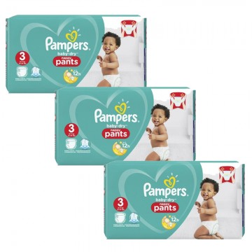 360 Couches Pampers Baby Dry Pants taille 3