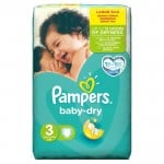 90 Couches Pampers Baby Dry taille 3