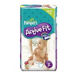 68 Couches Pampers Active Fit taille 3