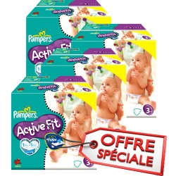 272 Couches Pampers Active Fit taille 3