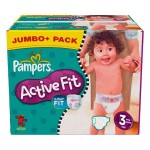 340 Couches Pampers Active Fit taille 3