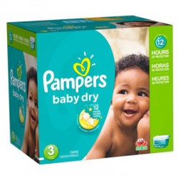 266 Couches Pampers Baby Dry taille 3