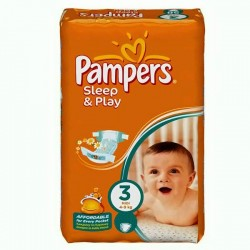 78 Couches Pampers Sleep & Play taille 3