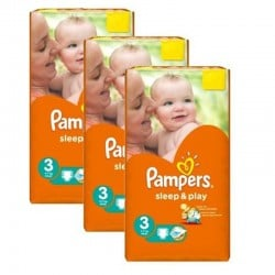 780 Couches Pampers Sleep & Play taille 3